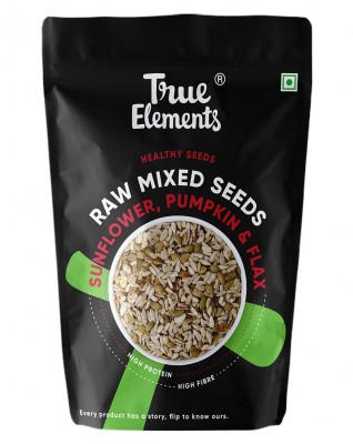 True Elements Raw Sunflower Pumpkin and Flax Seeds