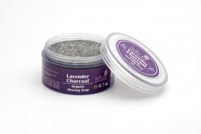 Rustic Art Lavender Charcoal Shaving Soap