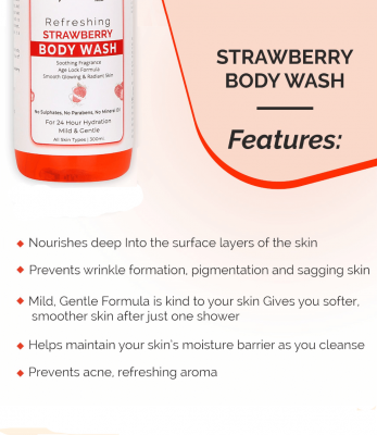 Globus Naturals Refreshing Strawberry Body wash 300 ml