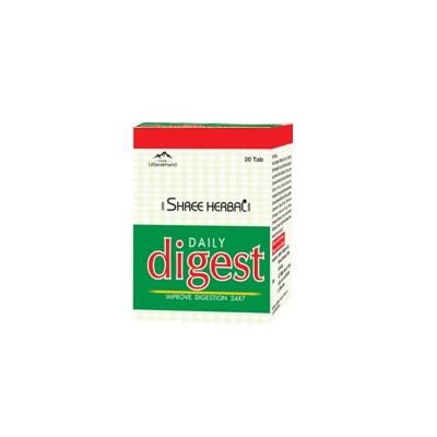 Buy Shree Herbal Daily Digest Tablets and Get 1 Pack of Organic Green Tea FREE