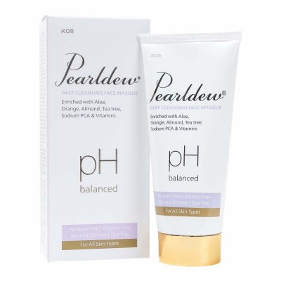 IKON Pearldew Deep Cleansing Face Masque | Exfoliates and hydrates the skin | Removes daily impurities & soothes the skin